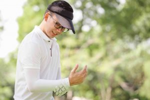 Golfer with Wrist and Elbow Pain
