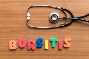 colorful letters that spell bursitis